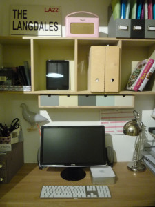 Inside our hideaway home office and desk