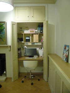 Hideaway Home Office in Cupboard